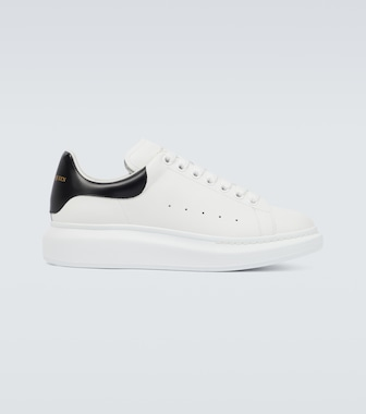 Alexander McQueen - Oversized leather sneakers - mytheresa.com