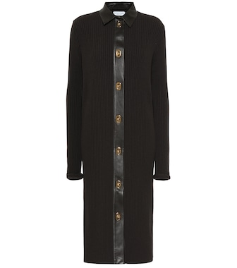 Bottega Veneta - Merino wool-blend shirt dress - mytheresa.com