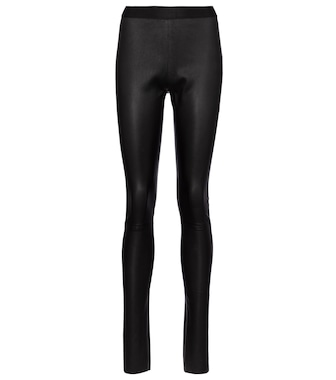 Ann Demeulemeester - High-rise nappa leather leggings - mytheresa.com