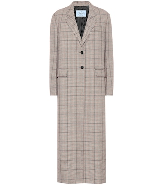 Prada - Checked wool coat - mytheresa.com