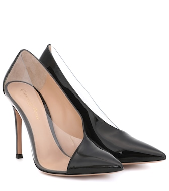 Gianvito Rossi - Deela PVC and patent-leather pumps - mytheresa.com