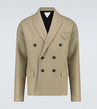 Bottega Veneta - Double-breasted wool blazer - mytheresa.com