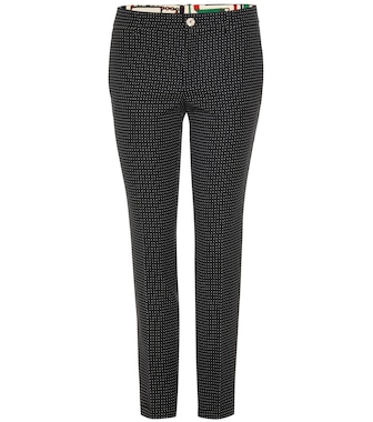 Gucci - Cropped wool-blend trousers - mytheresa.com