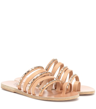 Ancient Greek Sandals - Sandalias Niki Chains de piel - mytheresa.com