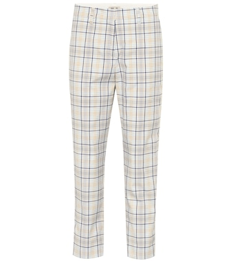 Baum und Pferdgarten - Nelma checked cotton-blend pants - mytheresa.com