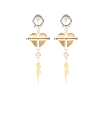 Prada - Crystal-embellished clip-on earrings - mytheresa.com