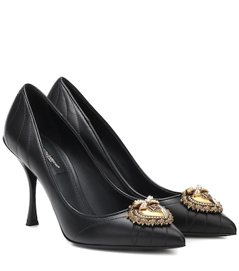 Dolce & Gabbana - Lori matelassé leather pumps - mytheresa.com