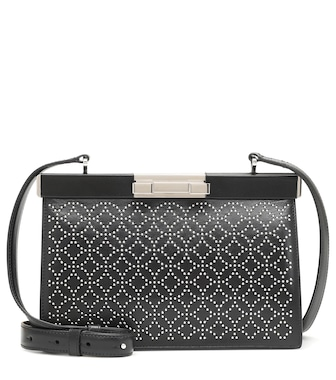 Alaïa - Cecile 24 leather shoulder bag - mytheresa.com