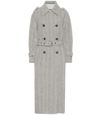 Brunello Cucinelli - Herringbone alpaca and wool coat - mytheresa.com