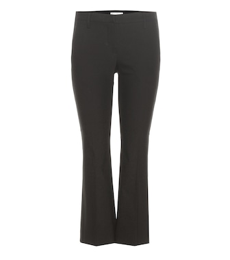 Brunello Cucinelli - Cropped cotton-blend trousers - mytheresa.com