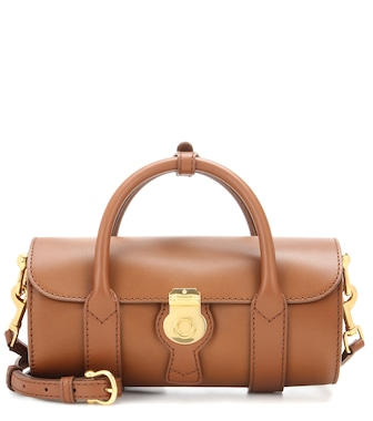 Burberry - The Small Trench leather barrel Bag - mytheresa.com