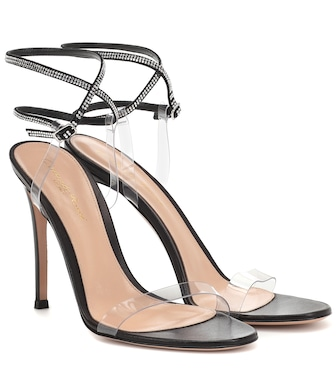 Gianvito Rossi - Exclusive to Mytheresa – 105 embellished leather sandals - mytheresa.com