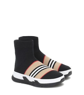 Burberry Kids - Zapatillas calcetín Icon Stripe - mytheresa.com
