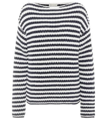 Mansur Gavriel - Striped cotton-blend sweater - mytheresa.com