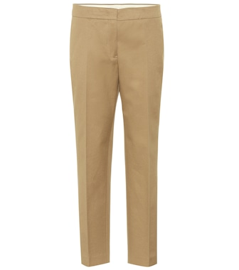 Jil Sander - Cropped cotton pants - mytheresa.com