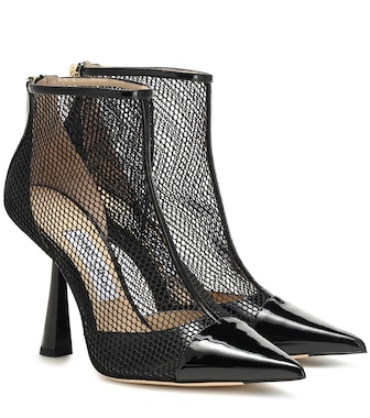 Jimmy Choo - Kix 100 leather and mesh ankle boots - mytheresa.com
