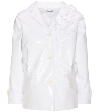 Miu Miu - Embellished faux-leather jacket - mytheresa.com