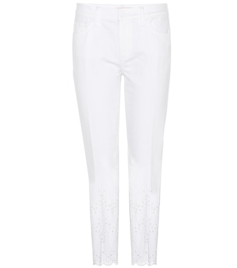Tory Burch - Mateo Scalloped Cropped jeans - mytheresa.com