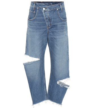 Monse - Cropped high-rise straight jeans - mytheresa.com