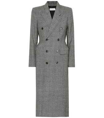 Balenciaga - Checked virgin wool coat - mytheresa.com