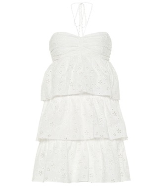 Saint Laurent - Tiered cotton-blend minidress - mytheresa.com