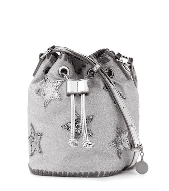 Stella McCartney Kids - Appliquéd glitter bucket bag - mytheresa.com