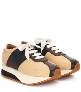 Marni - Big Foot leather sneakers - mytheresa.com