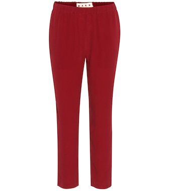Marni - Silk-blend cropped trousers - mytheresa.com