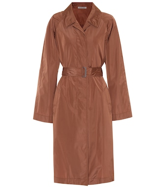 Bottega Veneta - Silk-blend trench coat - mytheresa.com