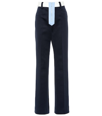 Miu Miu - High-rise straight jersey pants - mytheresa.com
