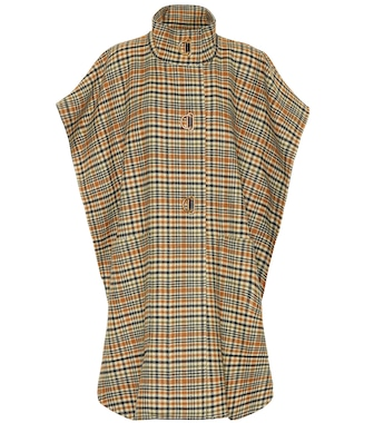 Burberry - Checked wool and cashmere cape - mytheresa.com