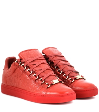 Balenciaga - Arena leather sneakers - mytheresa.com