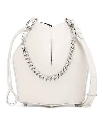 Alexander McQueen - Small leather bucket bag - mytheresa.com