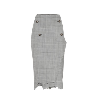 Vetements - Houndstooth wool-twill skirt - mytheresa.com