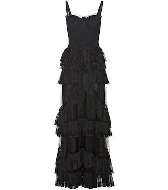 Dolce & Gabbana - Sleeveless ruffled gown - mytheresa.com