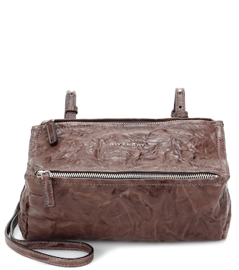 Givenchy - Pandora Mini leather shoulder bag - mytheresa.com