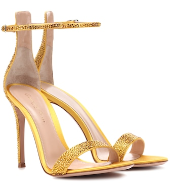 Gianvito Rossi - Exclusive to mytheresa.com – Glam embellished satin sandals - mytheresa.com