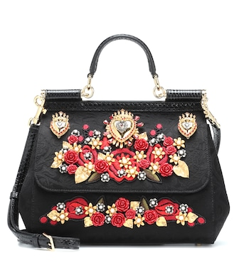 Dolce & Gabbana - Sicily Medium embellished shoulder bag - mytheresa.com