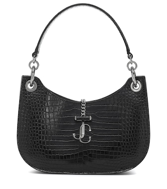 Jimmy Choo - Varenne Hobo Small leather shoulder bag - mytheresa.com