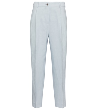 Acne Studios - Cropped linen and cotton pants - mytheresa.com
