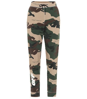 Off-White - Camouflage cotton sweatpants - mytheresa.com