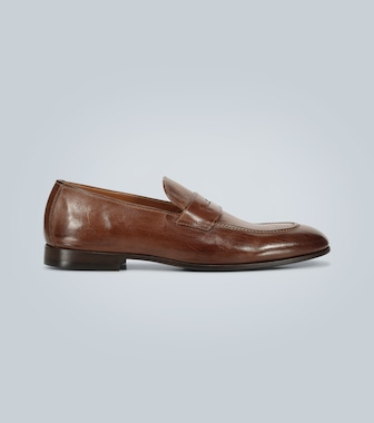 Brunello Cucinelli - Leather penny loafers - mytheresa.com