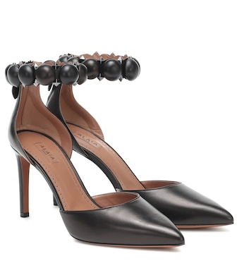 Alaïa - Bombe leather pumps - mytheresa.com