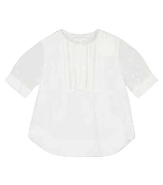 Chloé Kids - Cotton poplin blouse - mytheresa.com