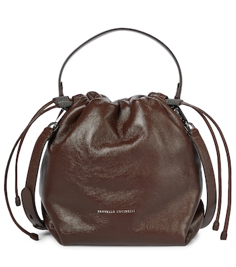 Brunello Cucinelli - Leather bucket bag - mytheresa.com