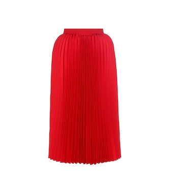 Balenciaga - Pleated twill midi skirt - mytheresa.com