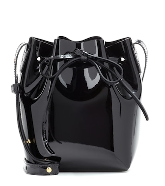 Mansur Gavriel - Mini Mini patent leather bucket bag - mytheresa.com