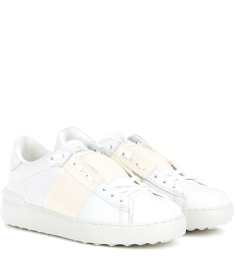 Valentino - Valentino Garavani Open leather sneakers - mytheresa.com