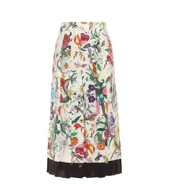 Gucci - Pleated silk skirt - mytheresa.com