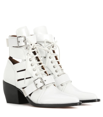 Chloé - Rylee Medium leather ankle boots - mytheresa.com